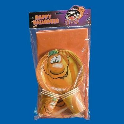 Kit Vaisselle Jetable Halloween Citrouille