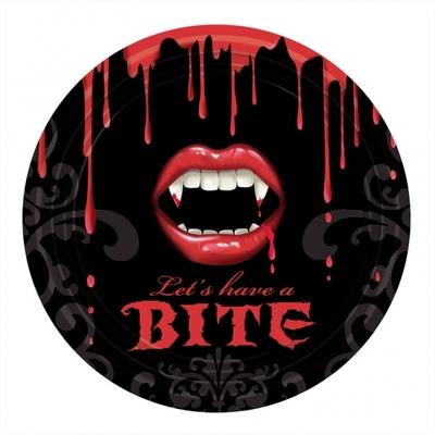 Assiettes thème vampire