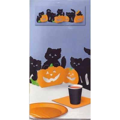 Chemin de Table Halloween Chats Et Citrouilles