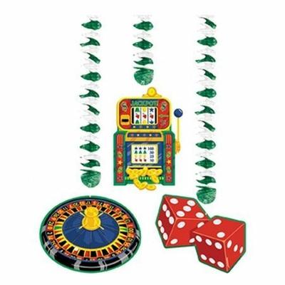 Pack de 3 Décorations à Suspendre Thème Casino
