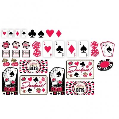 30 petites décorations thèmes Casino