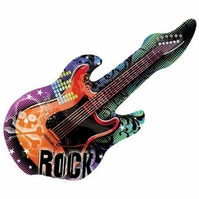 Ballon Mylar Guitare