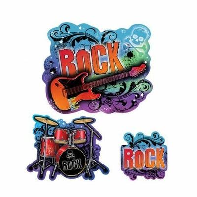 30 Décors Carton Thème Rock Et Musique