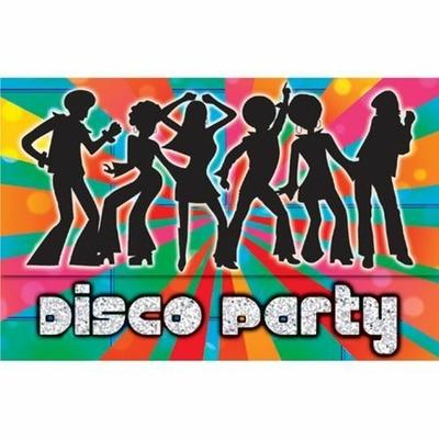 8 Invitations Disco Avec Enveloppes