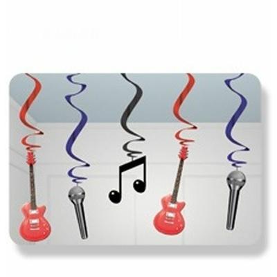 5 Décors Suspensions Thème Musique