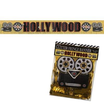 Bannière métallique hollywood