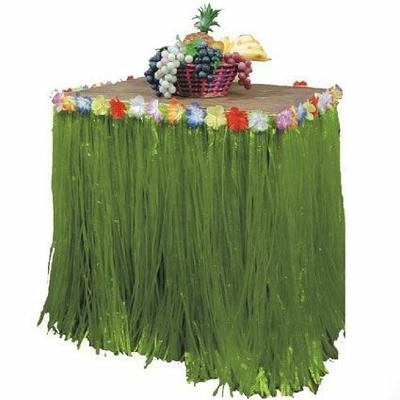 Tour de Table Vert Avec Fleurs 200 Cm