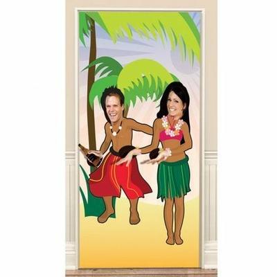 Décoration De Porte Thème Hawai 2M Danseurs Pour Photos