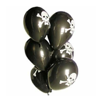 6 Ballons Pirates Latex