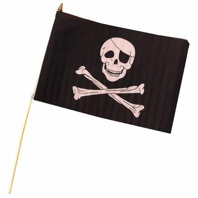 Drapeau Pirate Sur Tige