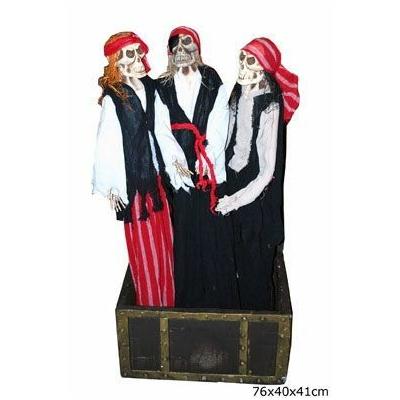 Coffre de Pirate Avec 3 Pirates