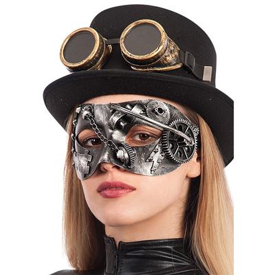 Masque steampunk argent