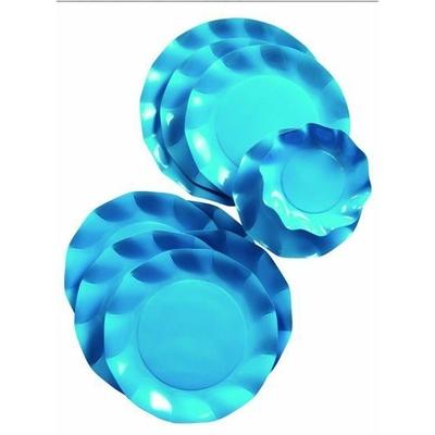 10 Assiettes Jetables 21Cm Turquoises