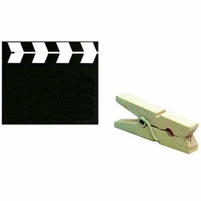 6 Pinces Marques Places Clap Cinéma