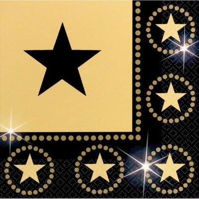 16 Serviettes Stars