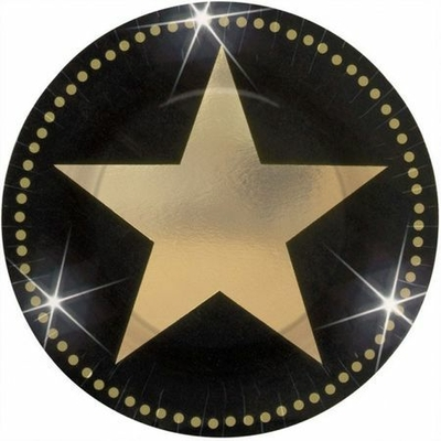 8 Assiettes (17.7Cm) Star Hollywood