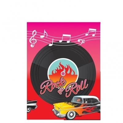 Nappe plastique thème année 50 Rock and Roll