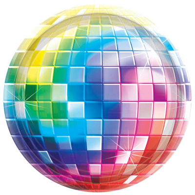 Assiettes disco