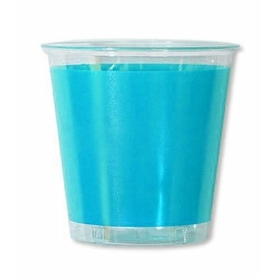 10 Verres En Plastique Turquoise
