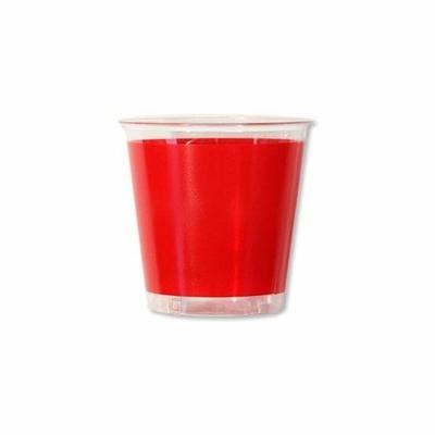 10 Verres Rouges En Plastique Jetable