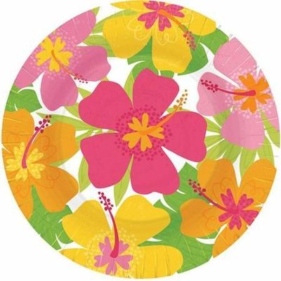 8 Assiettes Floral Paradise Roses 27Cm