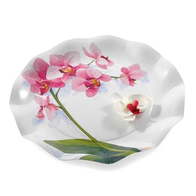 Assiette Maxi 32.4Cm Orchidées