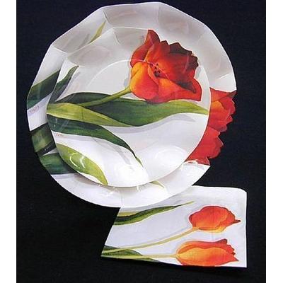 Assiettes Tulipes 21Cm