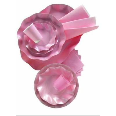 10 Coupelles Roses Métallisées 18.5 Cm