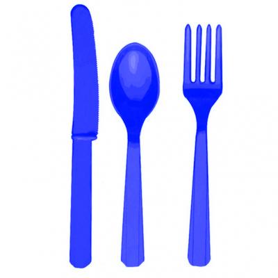 Assortiment couverts bleus