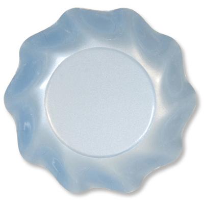 10 Coupelles Jetables 18.5Cm Bleues Perlées