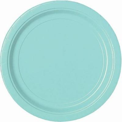 24 Assiettes à dessert Bleu Lagon 17.8 Cm