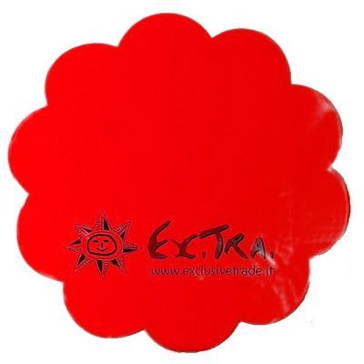 10 sous assiettes fleurs intissé rouges
