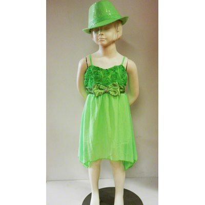 Robe fluo verte enfant