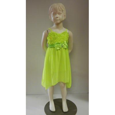 Robe fluo jaune enfant