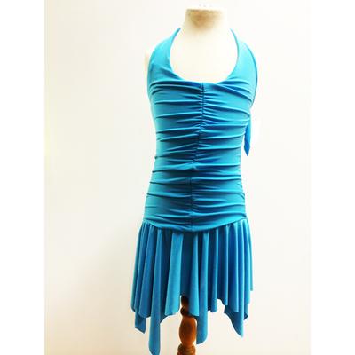 Robe de danse enfant turquoise sur commande