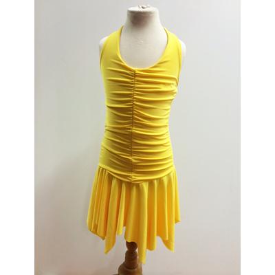 Robe de danse enfant jaune sur commande