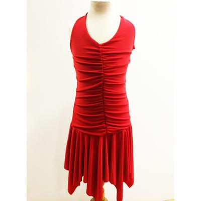 Robe de danse enfant rouge sur commande