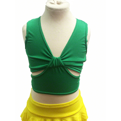 Brassiere de danse enfant vert brésil