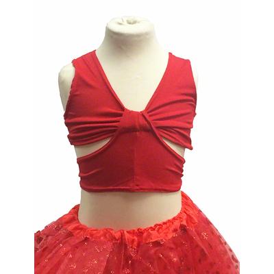 Brassiere de danse enfant rouge