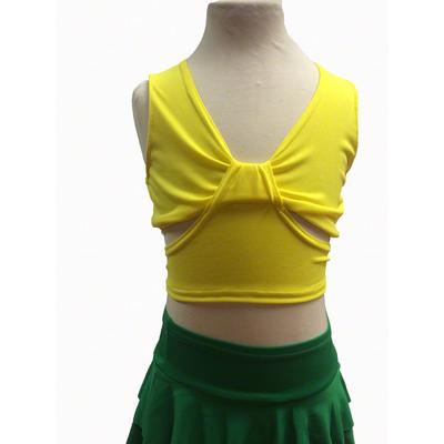 Brassiere de danse enfant jaune
