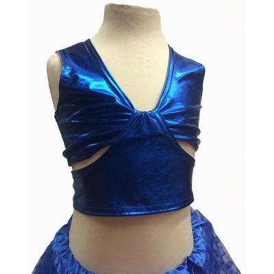 Brassiere de danse enfant métallisée bleu roy
