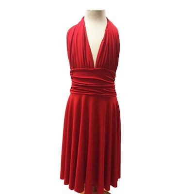 Robe de danse marilyn enfant rouge