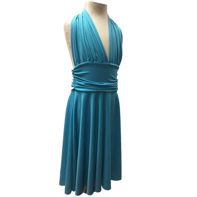 Robe de danse Marilyn enfant turquoise