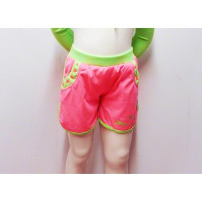 Short enfant fluo rose
