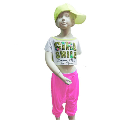 Pantalon sarouel hip hop enfant rose