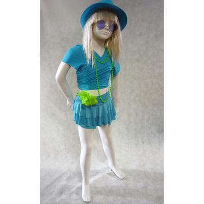 Jupe de danse enfant à volants turquoise
