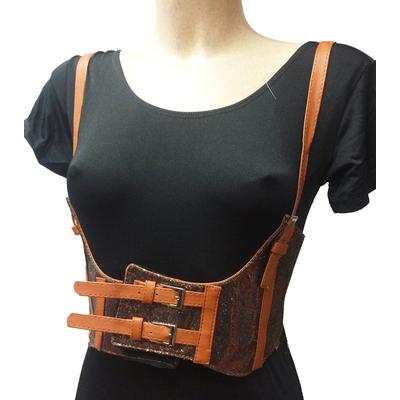Ceinture corset chocolat steampunk