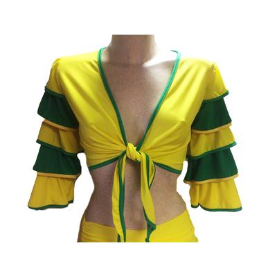 Bolero brésilien sur commande jaune et vert