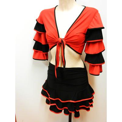 Bolero flamenco rouge et noir