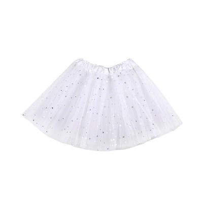 Jupe tutu blanc pailleté étoiles